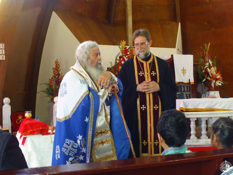 The first Orthodox Divine Liturgy in Tonga islands (November 23, 2014)