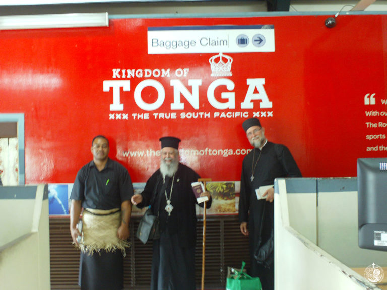 The first historical visit of an Orthodox missionary in Tonga islands