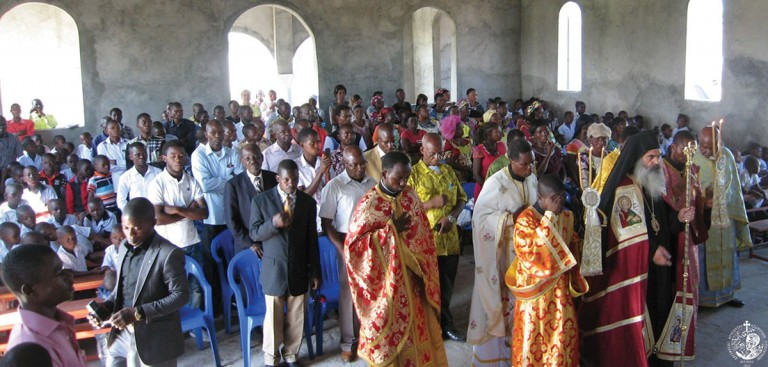 First Divine Liturgy at Holy Archangels church, Kinshasa
