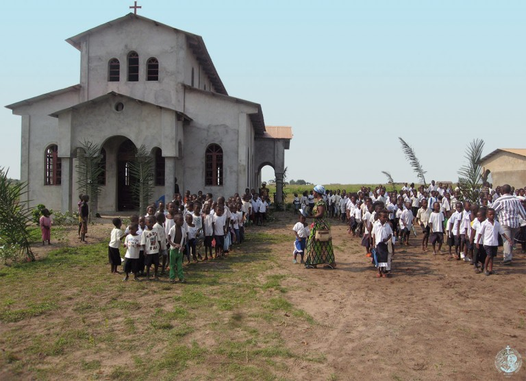 Annunciation of the Theotokos church and our school in Gungu